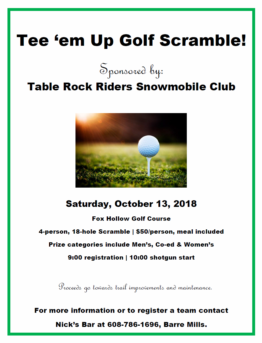 Tee em up golf scramble